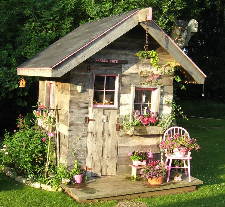 Garden Shed - something like this would be great to keep yeard tools and a lawn mower in (so the work shop and garage could stay neat and clean)
