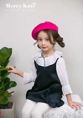 Kids Clothing Top Girl Blouse with Pearl (White Color) Long Sleeve Made in Korea
