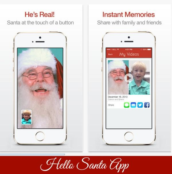 Fun App for Christmas: Hello Santa. What if your child could talk to #Santa…without a trip to the mall? There's an app for that!