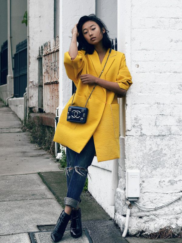 mellow yellow & Chanel. #MargaretZhang in Sydney. #ShineByThree
