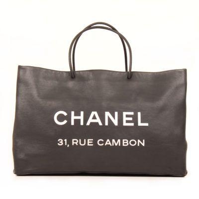 Chanel 31 Rue Cambon Black Leather Tote bag | www.cblbags.com
