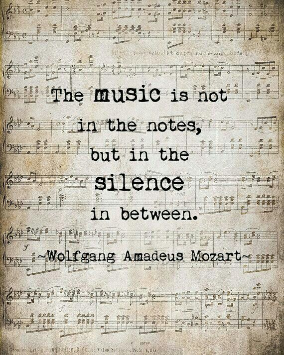 Music in the silence between the notes