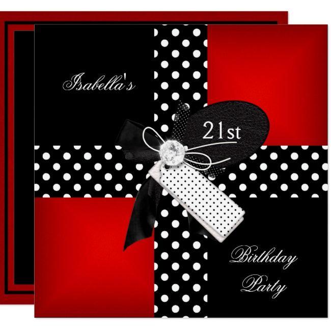 Create Your Own Invitation Polka Dot Birthday Polka Dot