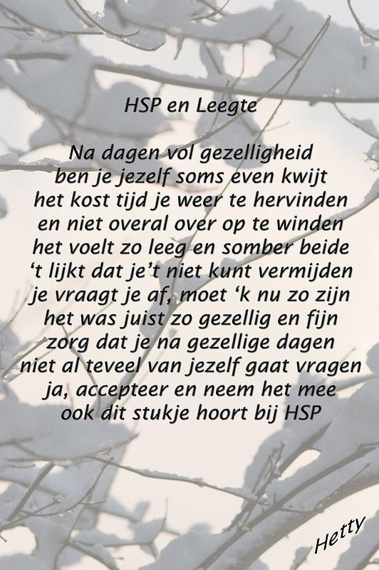 HSP en Leegte #hsp #leegte #gezellig