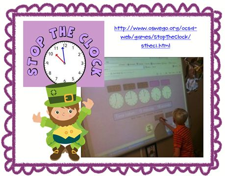 Teaching Time Clock Interactive Whiteboard - WoodWorking