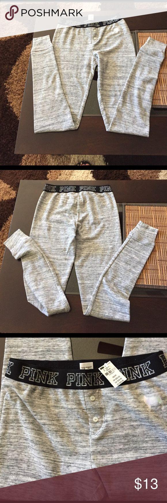 VICTORIES SECRET PINK THERMAL BOTTOMS Lounge/ PJ pajamas Victoria's Secret Pants Track Pants & Joggers