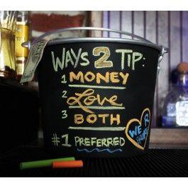 Chalkboard Tip Jar #bartender #funny
