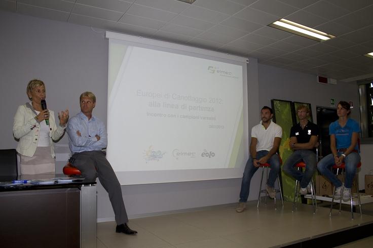 06/09/2012 - Elmec incontra i campioni del canottaggio italiano.