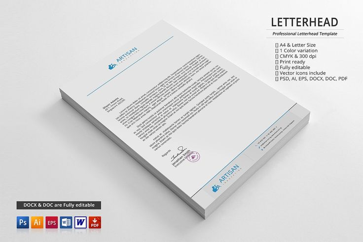 Corporate Letterhead by artisanHR on @creativemarket