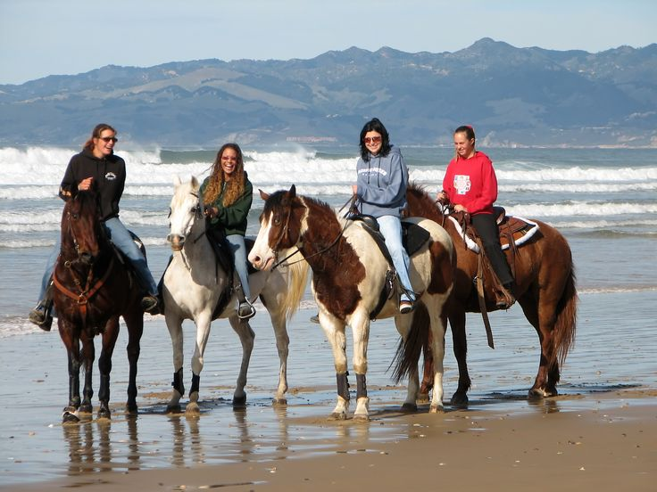 Horseback riding at Pismo Beach - visit pacificdunesranch.com for more information