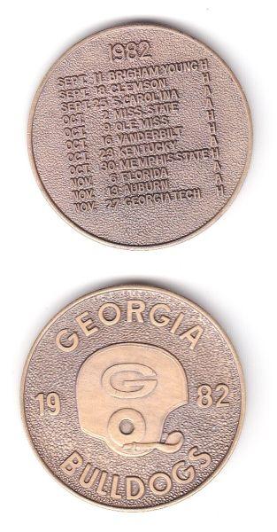 1982 UGA Schedule Coin