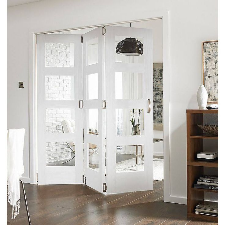 shaker 4 panel 4 lite white primed fully glazed internal room divider bu0026q for all your home and garden supplies and advice on all the latest diy trends - Room Dividers Ideas