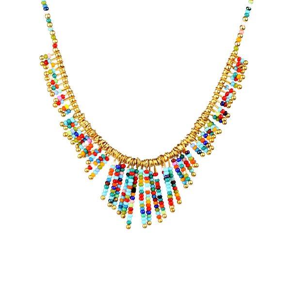 Multi Renk Afgan Taşlı Kolye  #kolye #moda #renkli #cıvılcıvıl #aksesuar #moda #accesories #necklace #fashion #klipsconcept