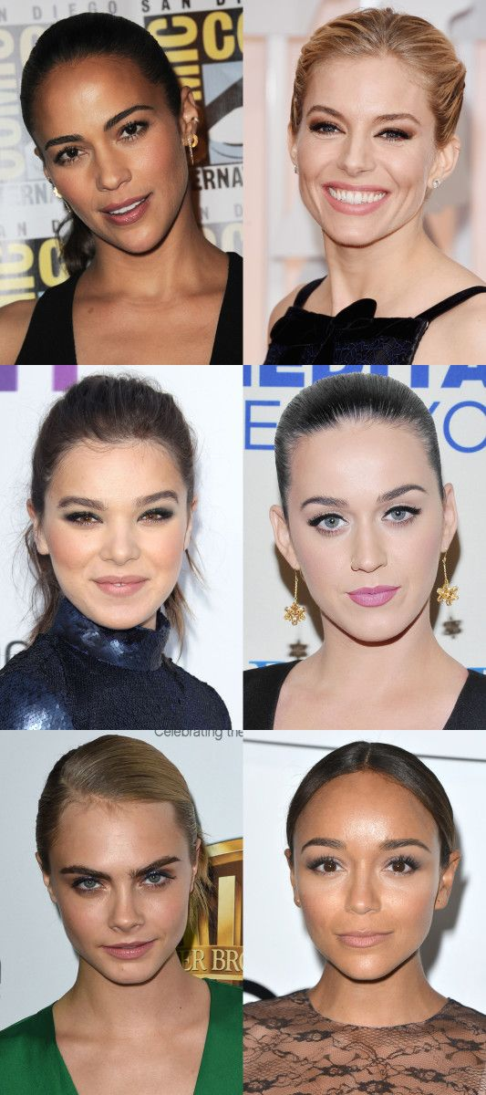 Celebrity examples of the oval face shape.