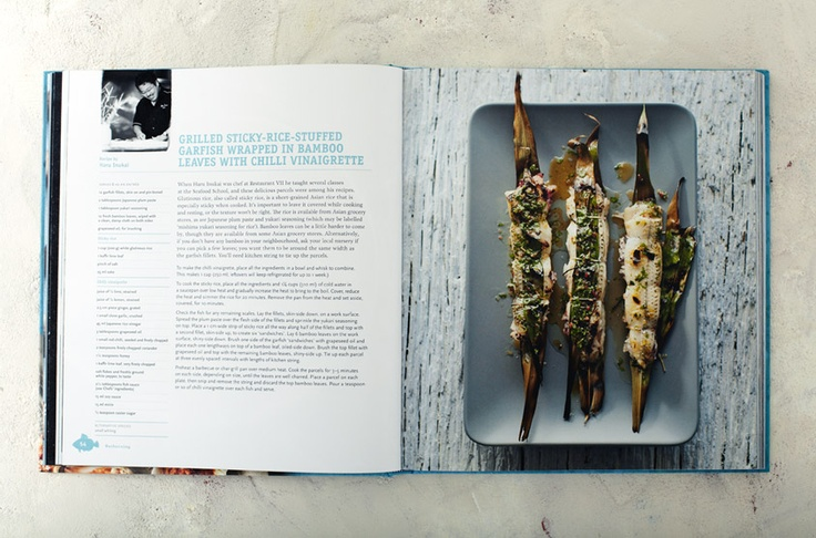 Haru Inukai's Grilled Sticy-Rice-Stuffed Garfish wrapped in Bamboo Leaves (from Sydney Seafood School Cookbook   Lantern)