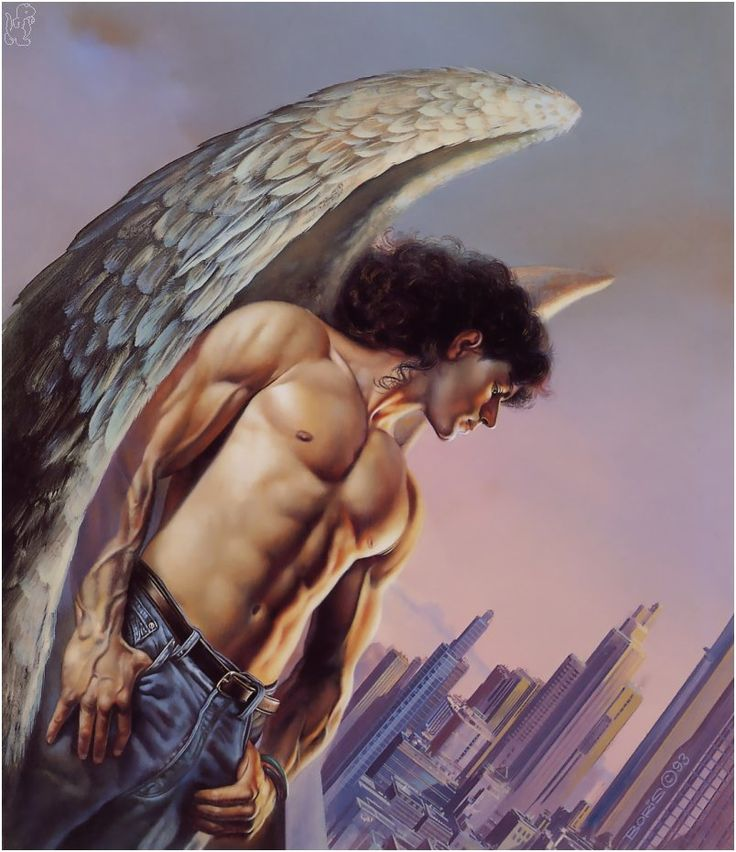 Boris Vallejo - Angel in the City