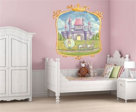 17 best ideas about castle mural on pinterest princess for Castle wall mural sticker