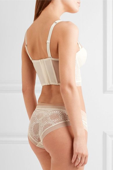 Calvin Klein Underwear - Endless Stretch-lace And Tulle Underwired Bra - Ivory - 34D