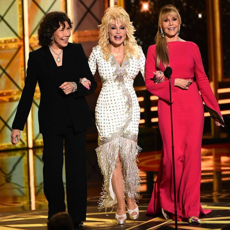 """2,406 Likes, 14 Comments - Variety Magazine (@variety) on Instagram: """"It's a '9 to 5' reunion as Lily Tomlin, @dollyparton, and @janefondaofficial present at the #Emmys!…"""""""