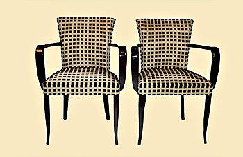 A pair of nice Art Deco bridge chairs