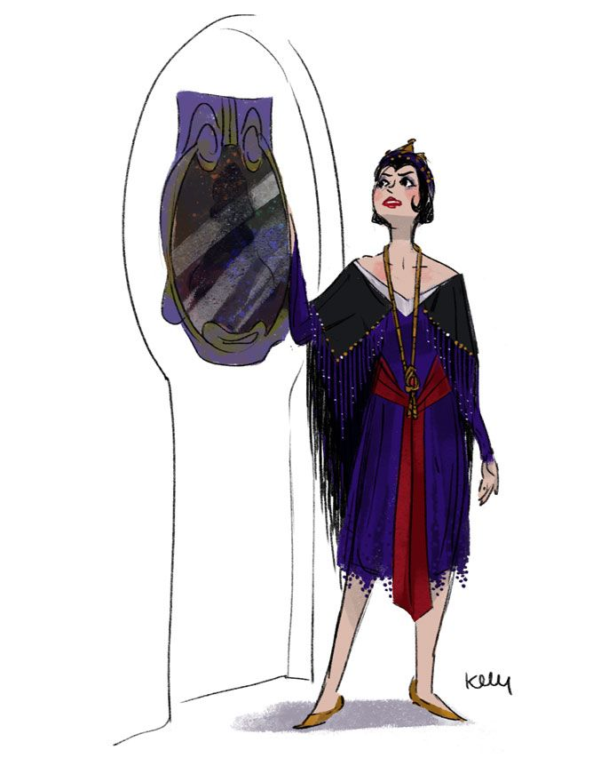 Disney Villains re-imagined as Flappers from the 1920's: The Evil Queen from Snow White.    OH MY GOD ITS PERFECT