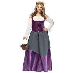 Disfraz de tabernera medieval talla grande para mujer