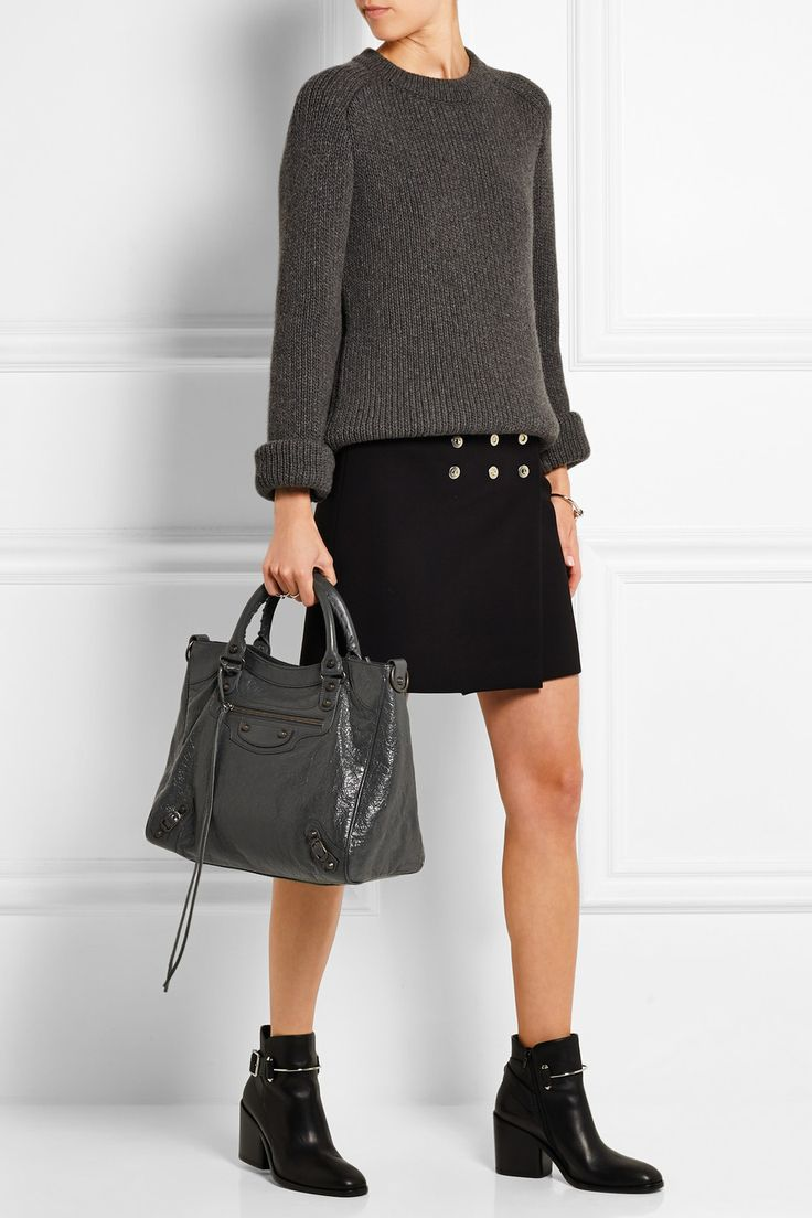 Balenciaga | Velo textured-leather shoulder bag | NET-A-PORTER.COM