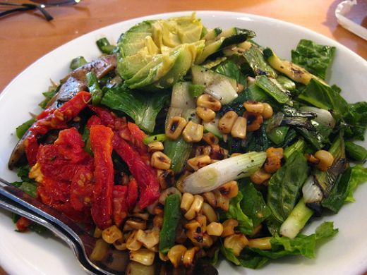 California Pizza Kitchen Copycat Recipes: Grilled Veggie Salad. Had this salad at TCP yesterday for lunch and have been day dreaming about it ever since. Definitely going to try this recipe.