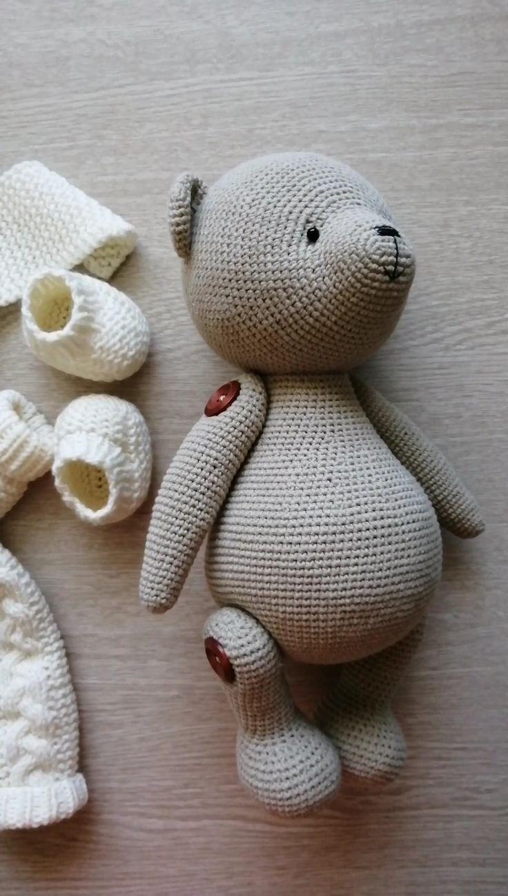 Knitting Toy Pattern Pdf - Teddy Bear Toy By Polushkabunny