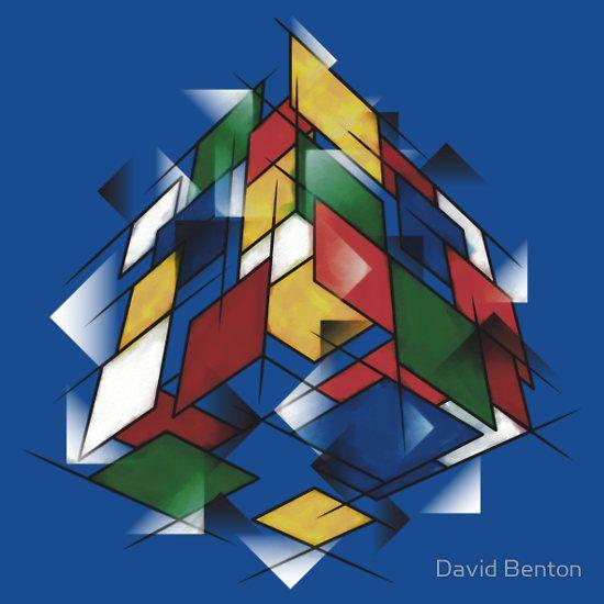Rubik's Cubism by David Benton. http://www.redbubble.com/people/dbenton25/works/10079945-rubiks-cubism