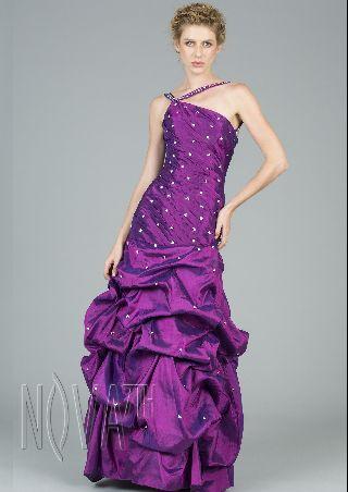 Charming Purple Jewel Neck Sequin Sheath Ball Gown Evening Dress