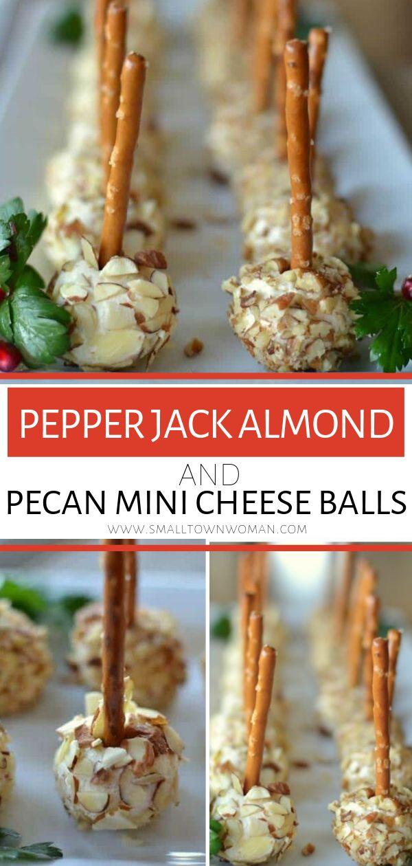 Pfeffer Jack Almond und Pecan Mini Cheese Balls