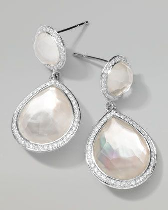 Stella 2-Stone Drop Earrings in Mother-of-Pearl Doublet with Diamonds by Ippolita at Bergdorf Goodman.