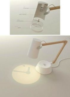 Innovative table lamp with clock