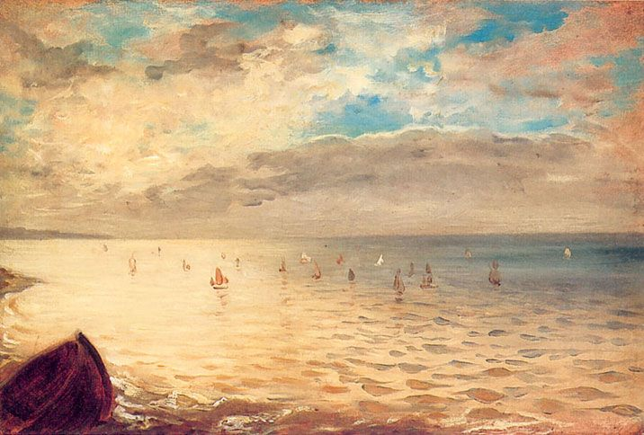 Eugene Delacroix, The Sea at Dieppe, 1852.  He was prolific, and progressive during his lifetime, a master of color.