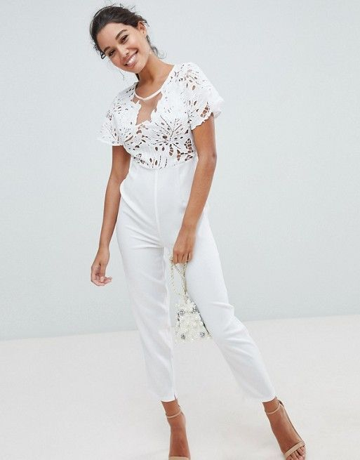 556055376fd6 Love Triangle Lace Jumpsuit