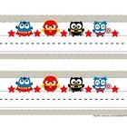 Super Hero Owl name tags for student desks. They measure approximately 9.5x3. They are beyond cute and great for both the owl and/super hero the...