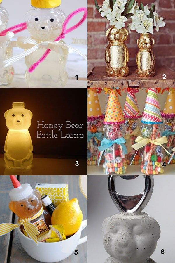 Honey Bear Bottle Crafts - Recycling Craft