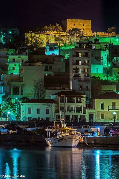 Sitia by night... By Mike Solidakis.