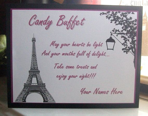 Candy Buffet  Sweets Table  Instructions Sign  Customize