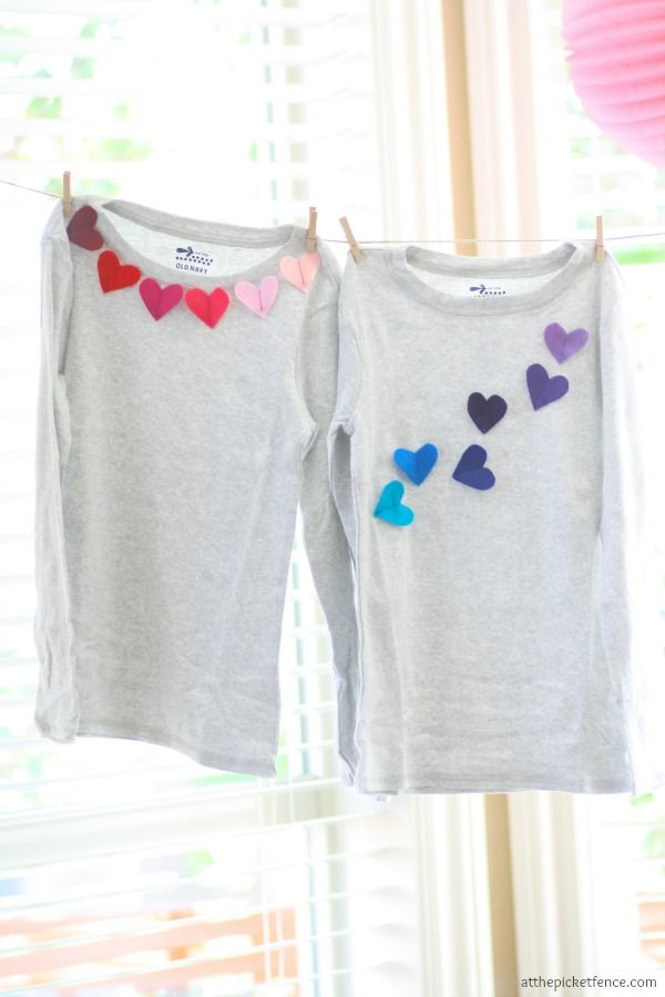 felt heart applique - quick way to dress up a plain tee.