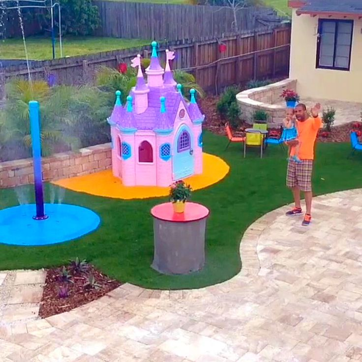 We Teamed Up With Hundreds Of Volunteers That Put This Backyard Make Over  Together For Daniella. Her Portable Splash Pad That Was Installed  Semi Permanent ...