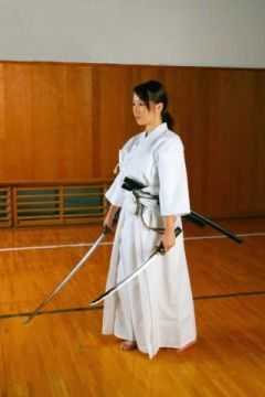 Deva leading Musashi Association [cut with a sword is well in about kendo dual wield / two swords]