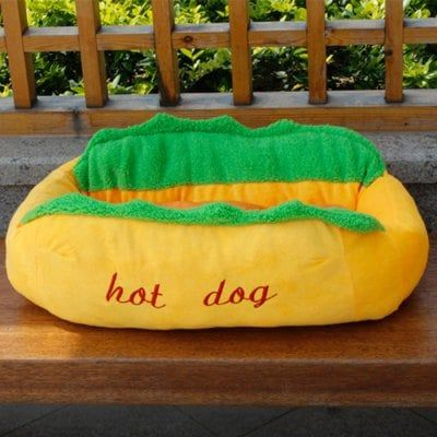 Just US$29.59 + free shipping, buy Simulation Hot Dog Shape Detachable Pet Bed online shopping at GearBest.com.