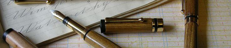 Houten pennen | Handgedraaide houten pennen