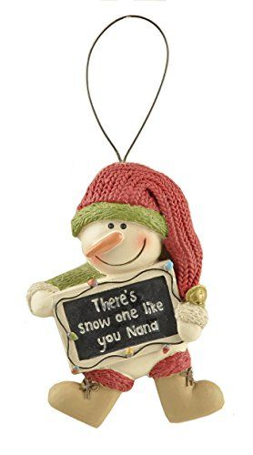 Family Snowman Christmas Ornaments (Dad, Grandma, Grandpa, Nana) (Nana)