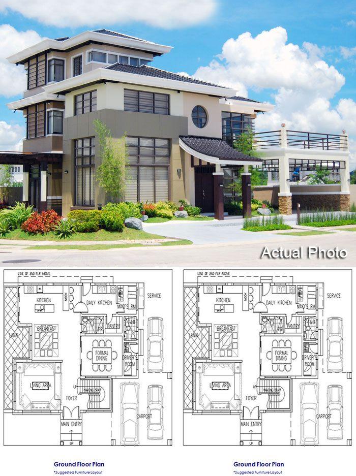 Japanese Inspired Three Storey House Japanese Style House Japanese Modern House Modern Style House Plans Contemporary japanese house plans