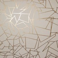 """Erica Wakerly """"Angles"""" Antique Gold and Cream wallpaper. Lovely."""
