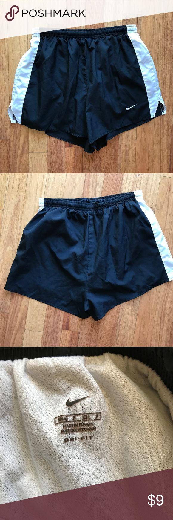 Women's Nike Running Shorts Black and white Running Shorts. Excellent condition. Size small. Smokeless and no flaws. Nike Shorts