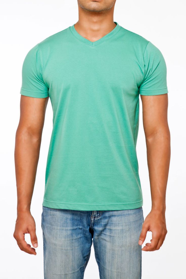 #FightingFame Vibrant Feel Tile Green V-Neck. @ FightingFame.com